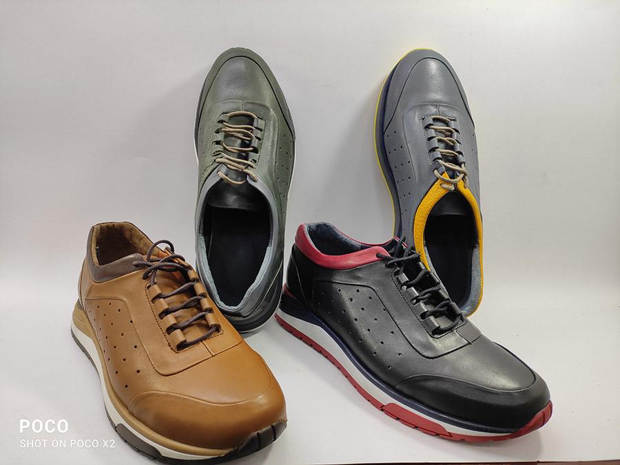 کفش اسپرت  مردانه  چرم طبیعی گاوی درجه یک تبریز کد 263
