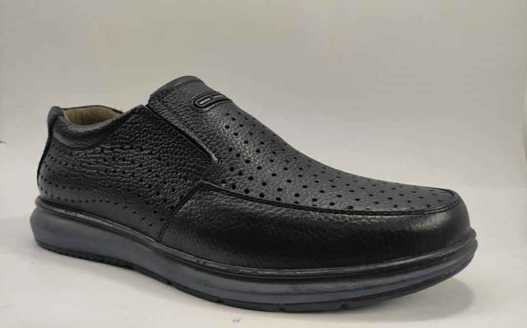 کفش تابستانی  طبی راحتی مردانه چرم طبیعی تبریز کد 392