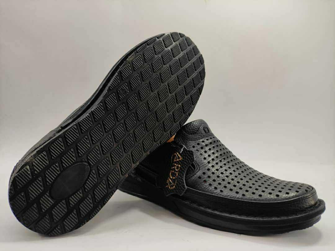 کفش تابستانی  طبی راحتی مردانه چرم طبیعی تبریز کد 390