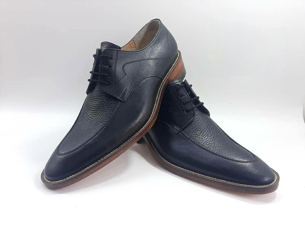 کفش مجلسی مردانه تمام چرم طبیعی گاوی تبریز کد 395