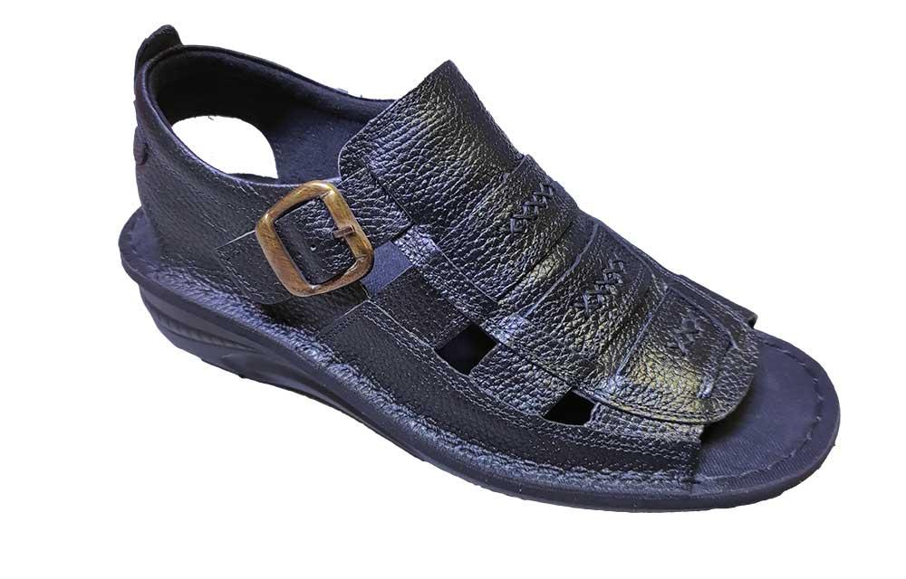 کفش تابستانی مردانه چرم طبیعی تبریز کد 398