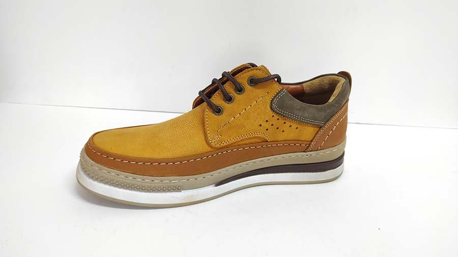 کفش اسپرت راحتی مردانه چرم طبیعی  تبریز کد 690