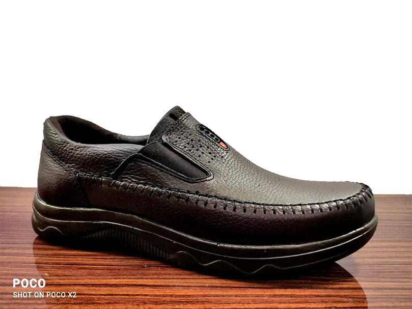 کفش راحتی مردانه چرم  طبیعی تبریز کد 199