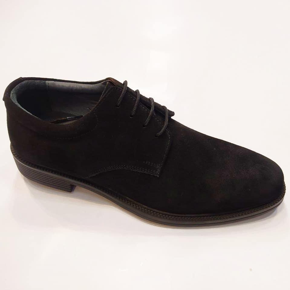 کفش مجلسی مردانه چرم طبیعی گاوی تبریز کد 313