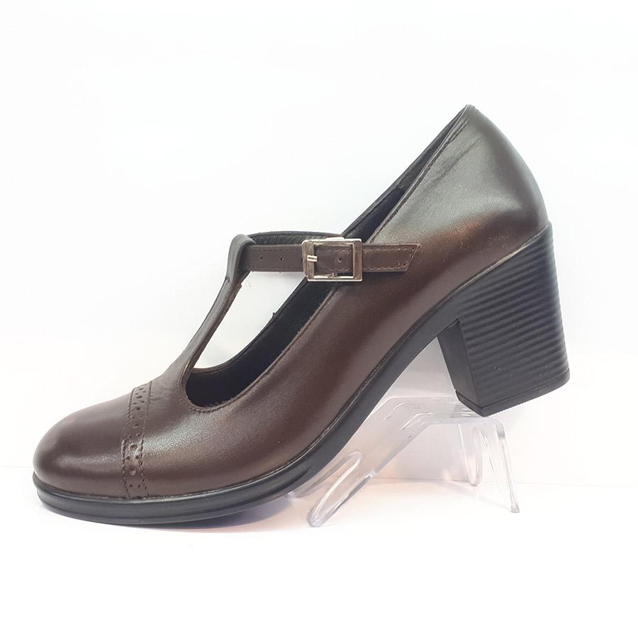 کفش مجلسی زنانه  چرم طبیعی دست دوز تبریز کد 344