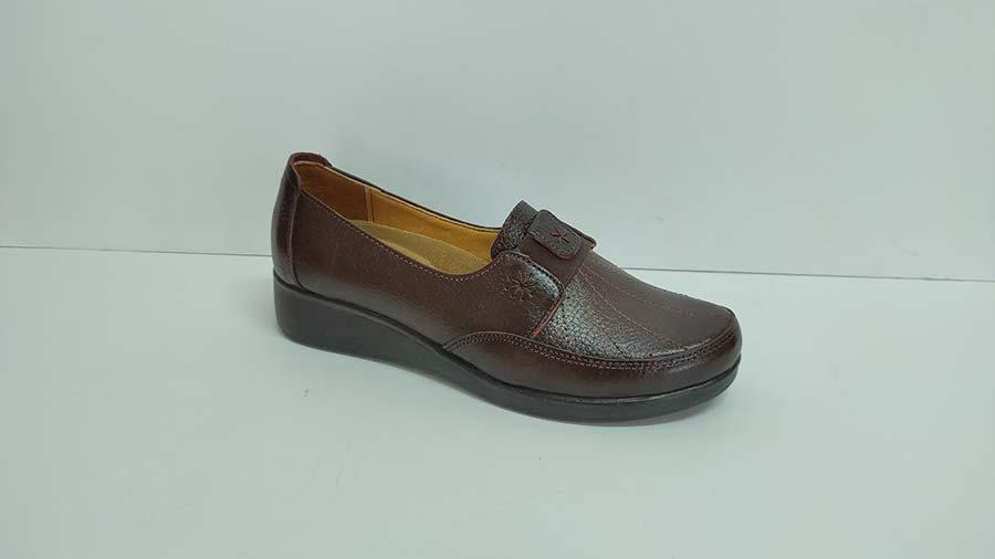 کفش طبی راحتی زنانه چرم طبیعی دست دوز تبریز کد 351