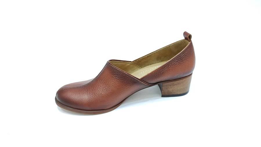 کفش مجلسی زنانه چرم طبیعی  تبریز کد 588