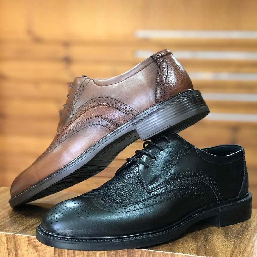 کفش چرم  طبیعی مجلسی مردانه