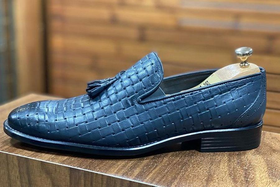 کفش کالج مردانه تمام چرم کلاسیک  کد ۰۳۳