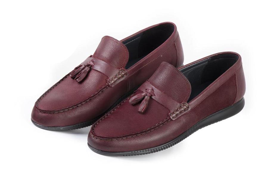 کفش کالج مردانه چرم مدل مادو Mado  کد 219