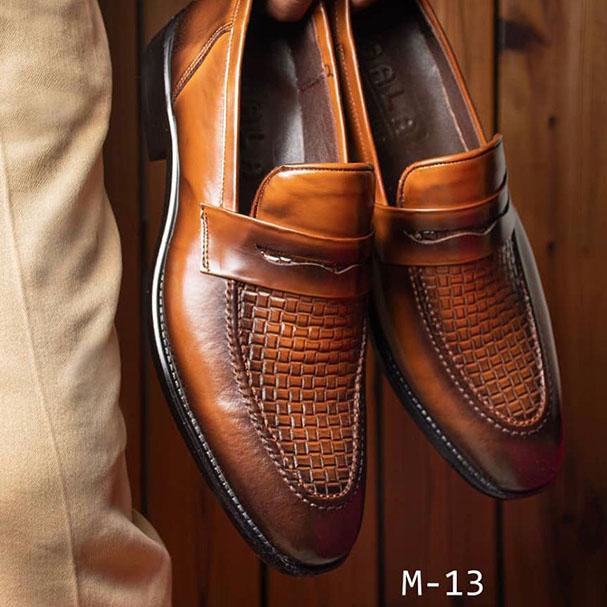 کفش مجلسی مردانه چرم طبیعی تبریز کد 226