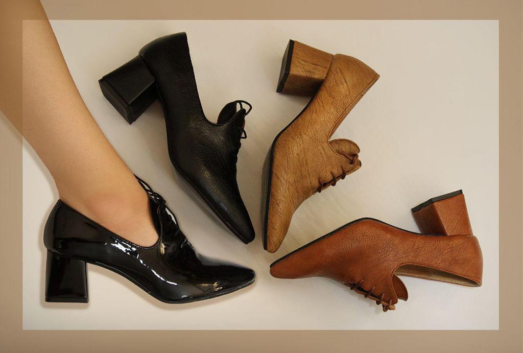 کفش زنانه مجلسی پاشنه دار مدل حلقه  کد 163
