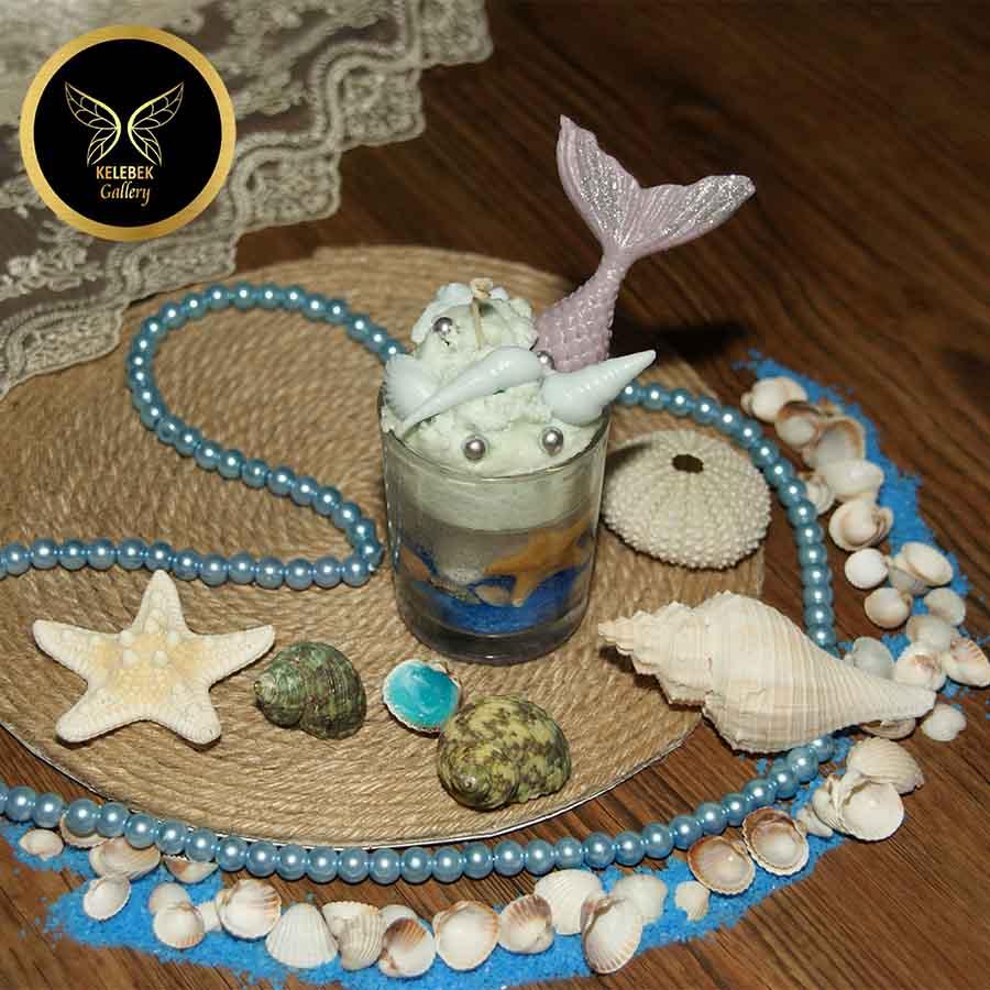 شمع دستساز تزئینی شات دریایی کد 3