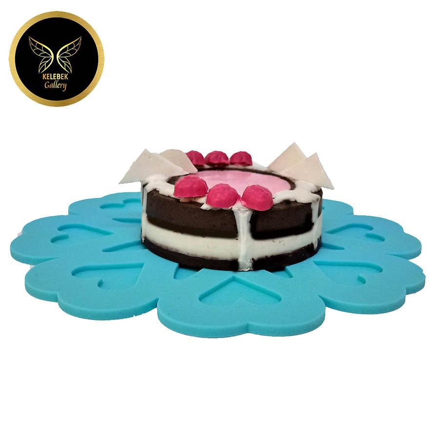 صابون دستساز تزئینی کیک شکلاتی توت فرنگی کد5