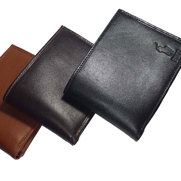 کیف پول مردانه چرم طبیعی دست دوز تبریز کد 146
