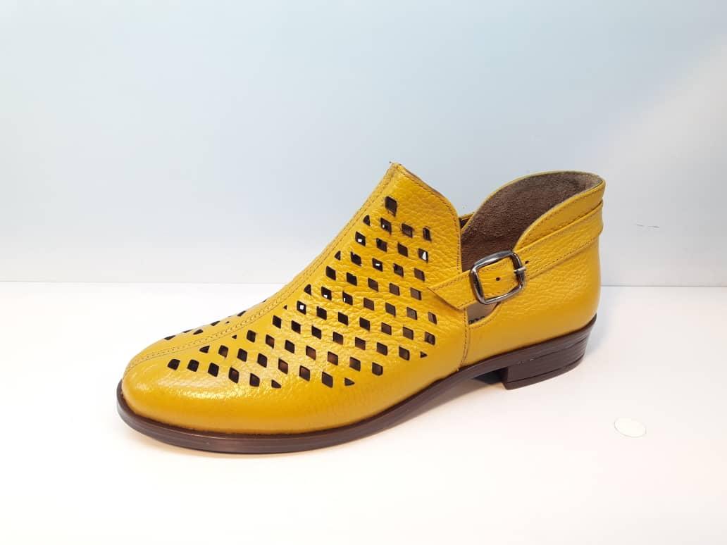کفش تابستانی زنانه چرم طبیعی  تبریز کد 415