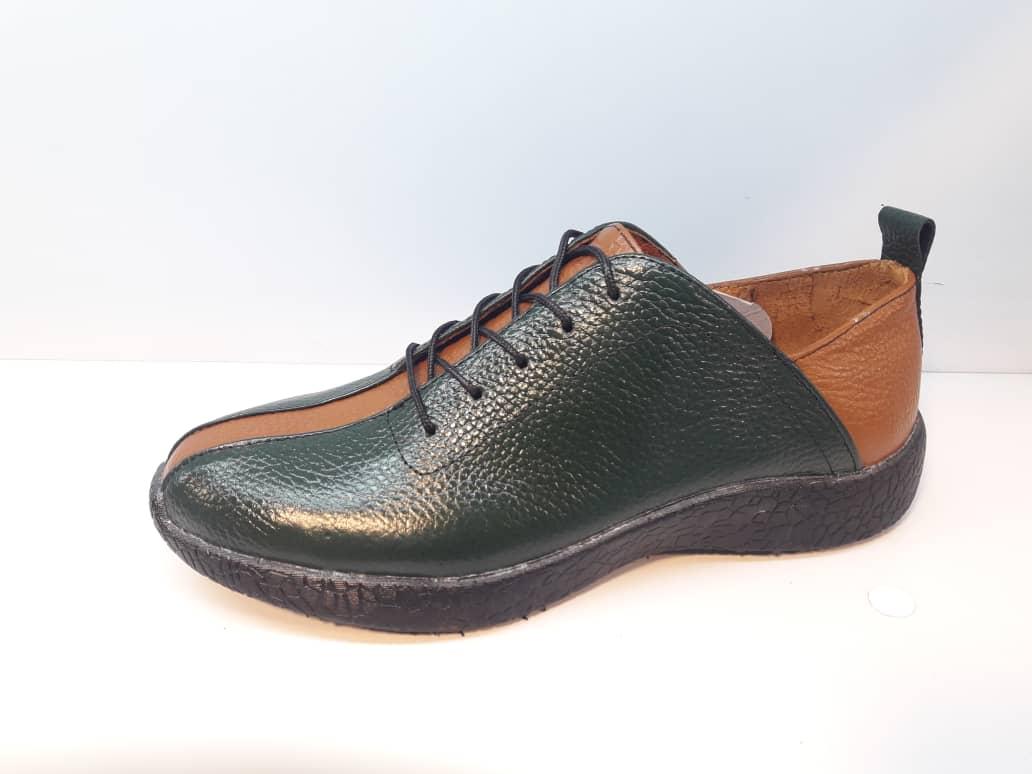 کفش اسپرت طبی زنانه  تمام چرم طبیعی تبریز کد 401