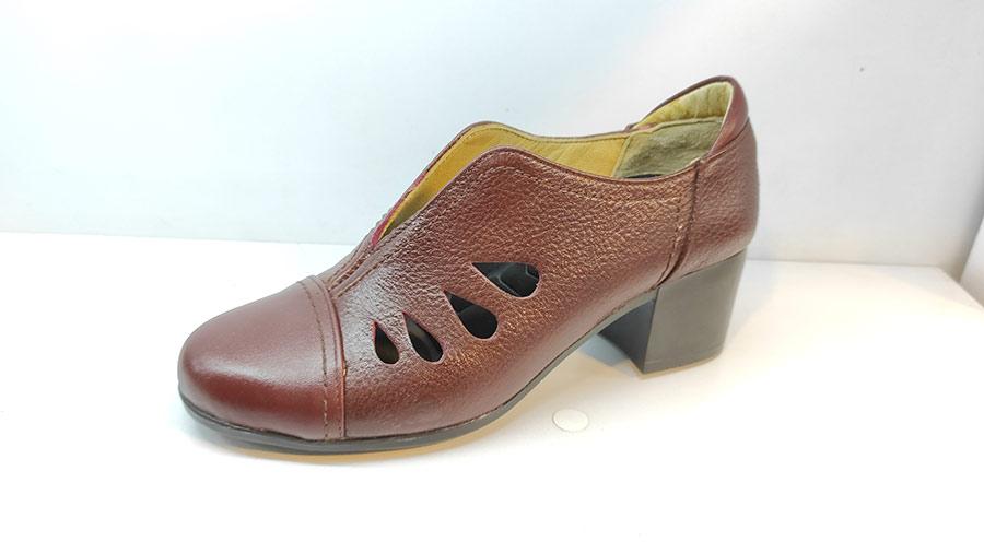 کفش تابستانی زنانه چرم طبیعی  تبریز کد 420