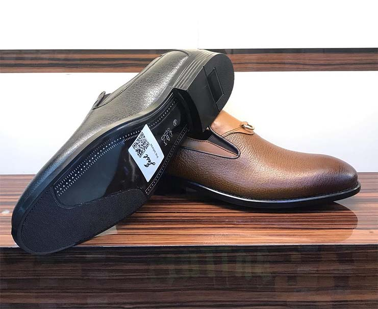 کفش چرم  طبیعی مجلسی مردانه دستدوز  تبریز کد113