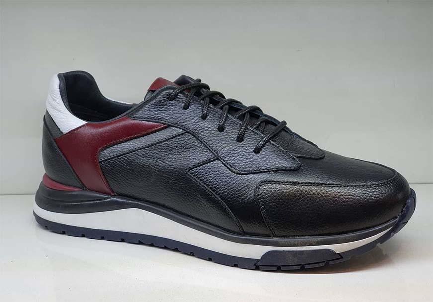 کفش اسپرت مردانه چرم طبیعی کد 028