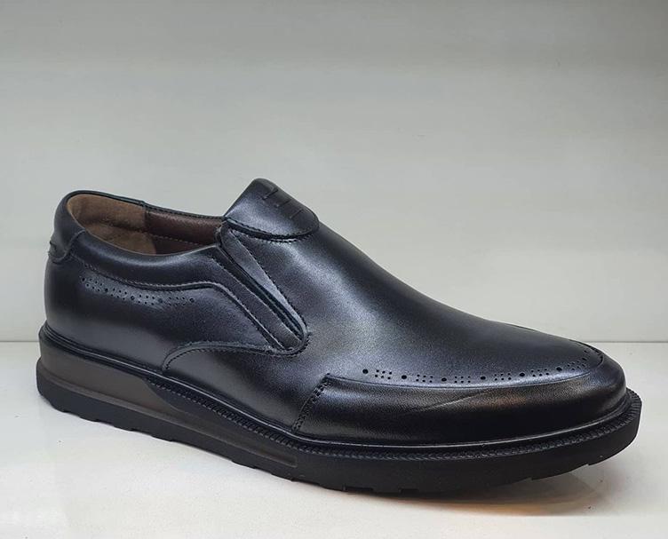کفش مجلسی راحتی مردانه  چرم  طبیعی تبریز کد 122