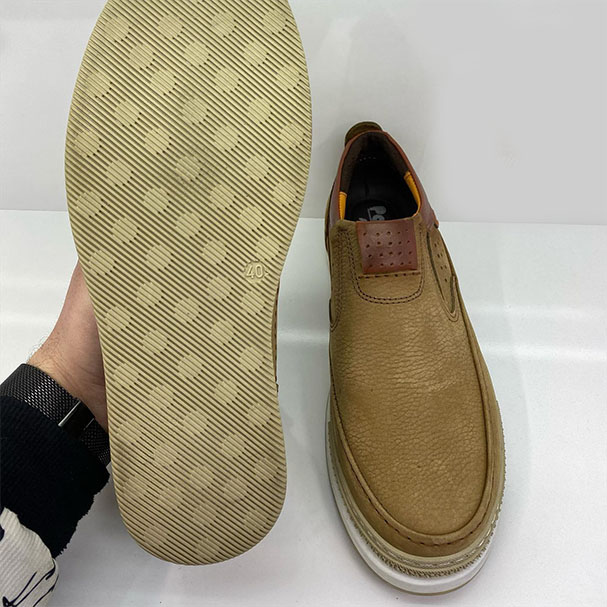 کفش راحتی مردانه چرم  طبیعی تبریز کد 175