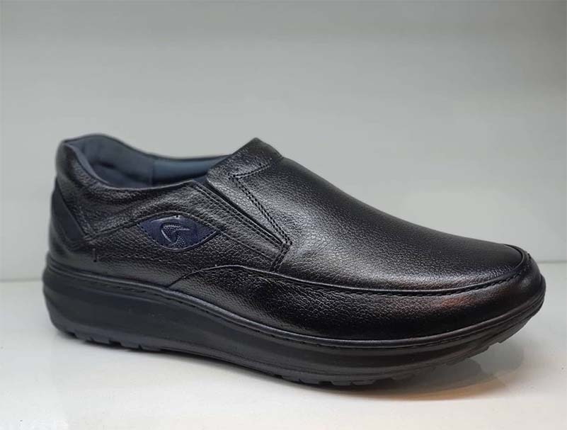 کفش  طبی مردانه چرم طبیعی تبریز کد 037