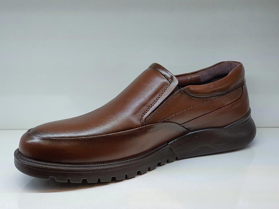 کفش طبی مردانه چرم طبیعی تبریز کد 424