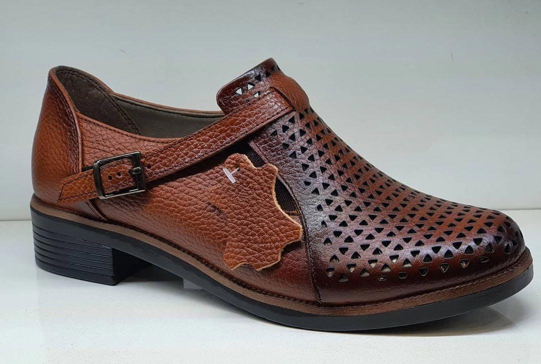 کفش تابستانی زنانه چرم طبیعی  تبریز کد 367
