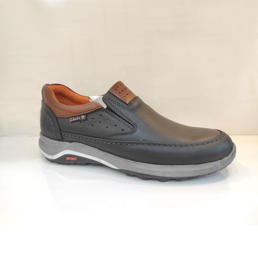کفش اسپورت مردانه چرم طبیعی تبریز کد 824