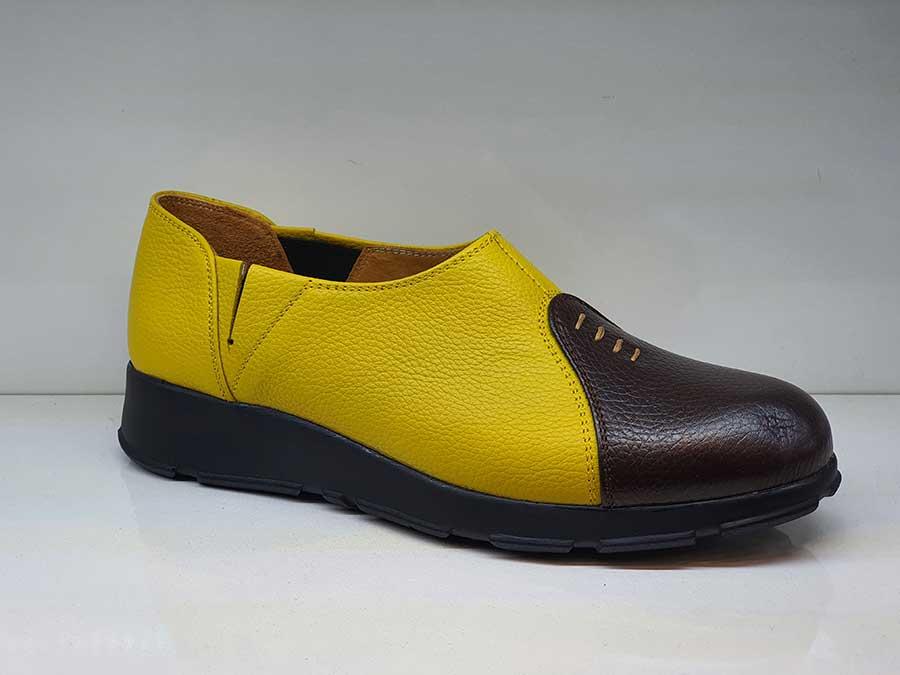 کفش اسپرت طبی راحتی زنانه چرم طبیعی  تبریز کد 480