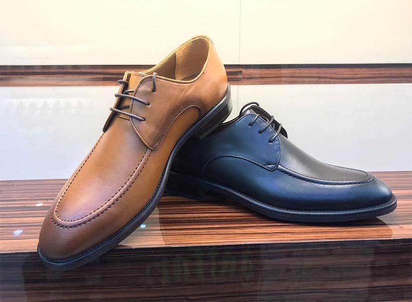 کفش چرم  طبیعی مجلسی مردانه دستدوز  تبریز کد109