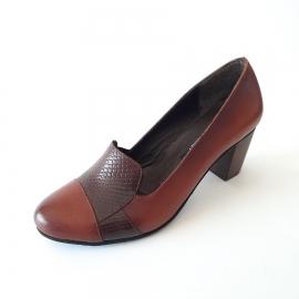 کفش زنانه مجلسی چرم طبیعی دست دوز تبریز کد 619