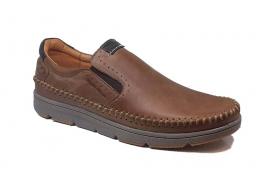 کفش راحتی مردانه تمام  چرم  کد 071