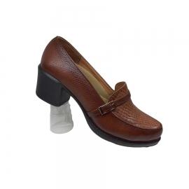 کفش زنانه چرم طبیعی دست دوز تبریز کد 087