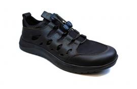 کفش  اسپرت مردانه چرم طبیعی  تبریز مدل جورابی تابستانی کد 230