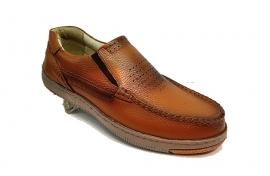 کفش راحتی مردانه تمام چرم طبیعی گاوی تبریز کد 336