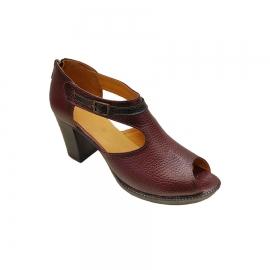 کفش تابستانی پاشنه دار زنانه چرم طبیعی  تبریز کد429