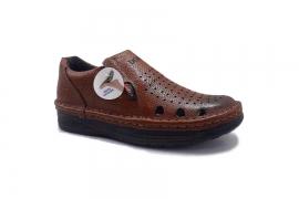 کفش تابستانی  طبی راحتی مردانه چرم طبیعی مدل کلارک تبریز کد434