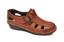 کفش تابستانی  طبی راحتی مردانه چرم طبیعی تبریز کد473