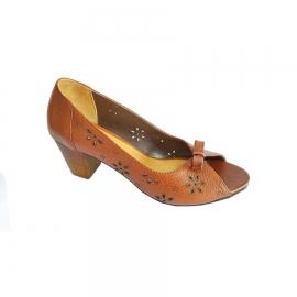 کفش تابستانی زنانه چرم طبیعی دست دوز تبریز کد 637