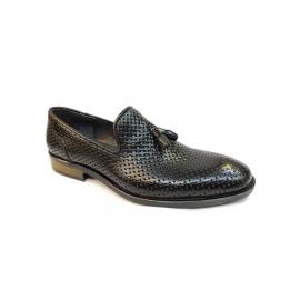 کفش مجلسی مردانه چرم طبیعی تبریز کد 779