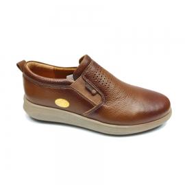 کفش طبی راحتی مردانه چرم طبیعی تبریز کد 882