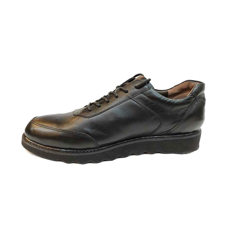 کفش طبی راحتی مردانه بزرگ پا چرم طبیعی تبریز کد 755