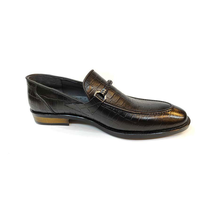 کفش مجلسی مردانه چرم طبیعی تبریز کد 776